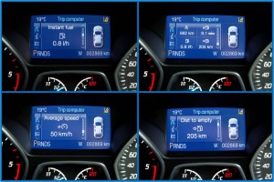The Kuga's trip computer has several different displays