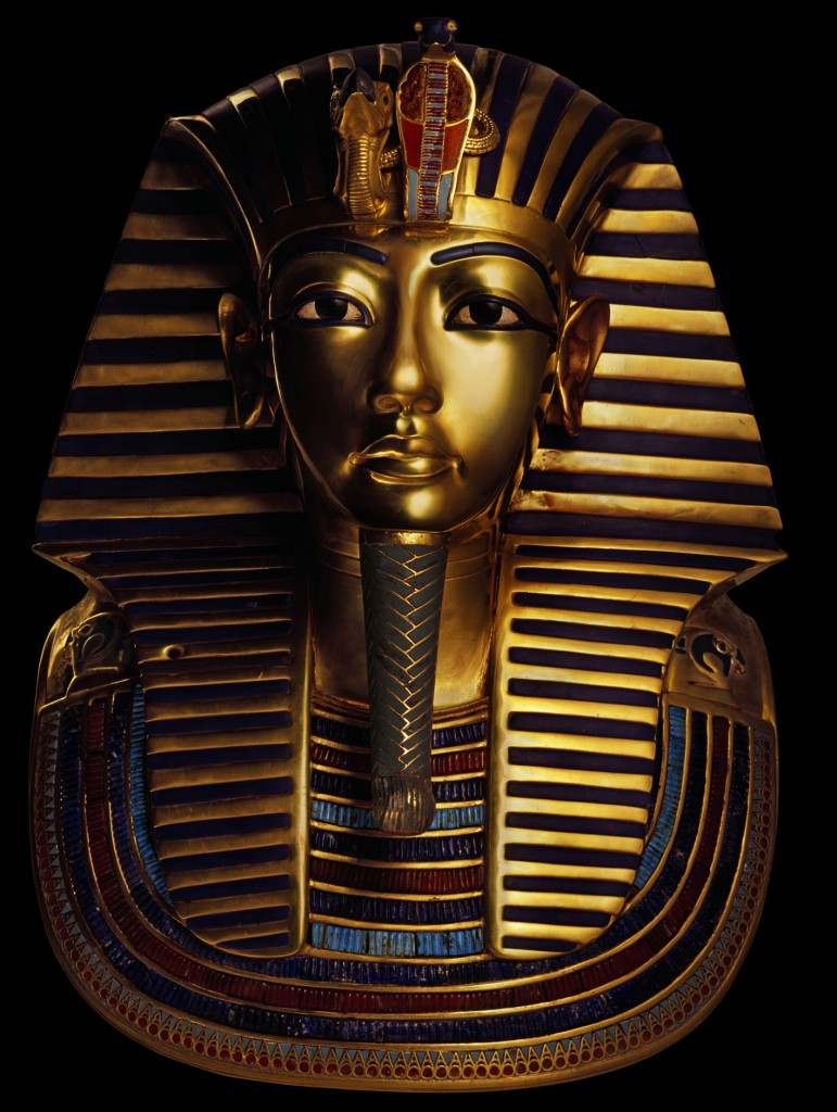 Golden Mask of Tutankhamun (Photographed by A.M. v. Sarosdy) Photo credit- SC Exhibitions